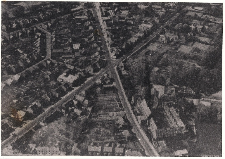 Haywards Heath transmitter from space, 1950.